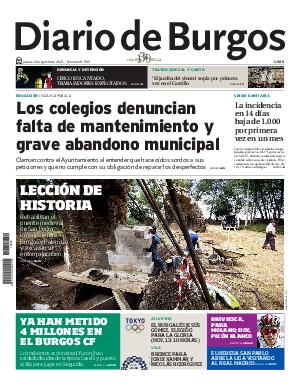 Portada Diario de Burgos