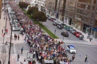 La Avenida de la Paz, abarrotada de manifestantes.